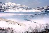 野反湖の冬